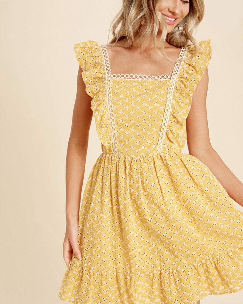 Angela Eyelet Dress