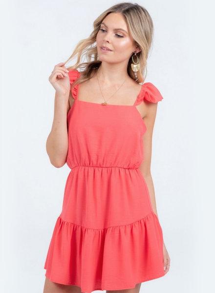 Ruffle Strap w/ Tiered Hem Dress