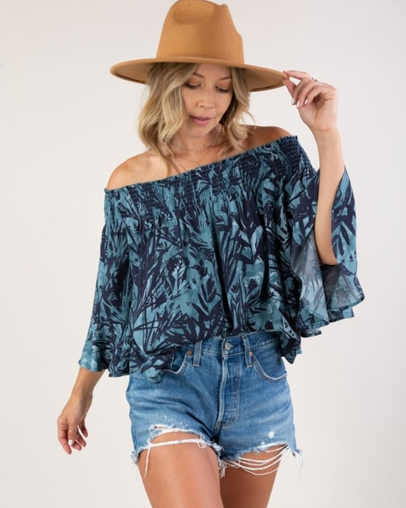 Tropical Vacay Off Shoulder Top