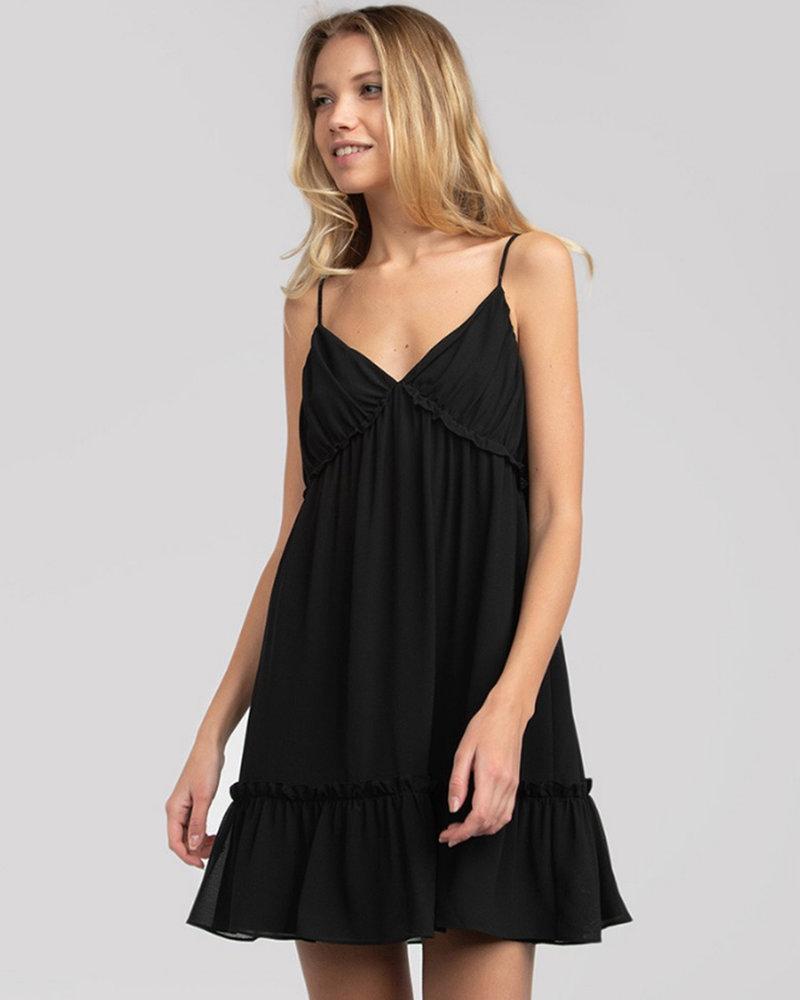 Strappy VNeck Flared Dress