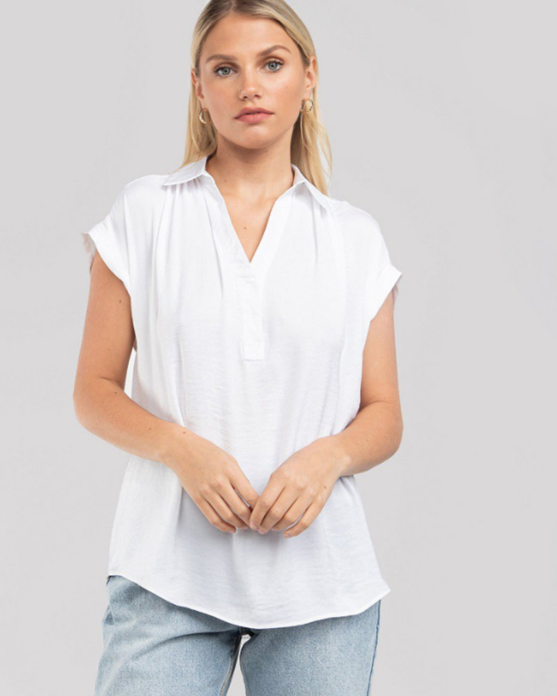 S/S Blouse w/ Collar