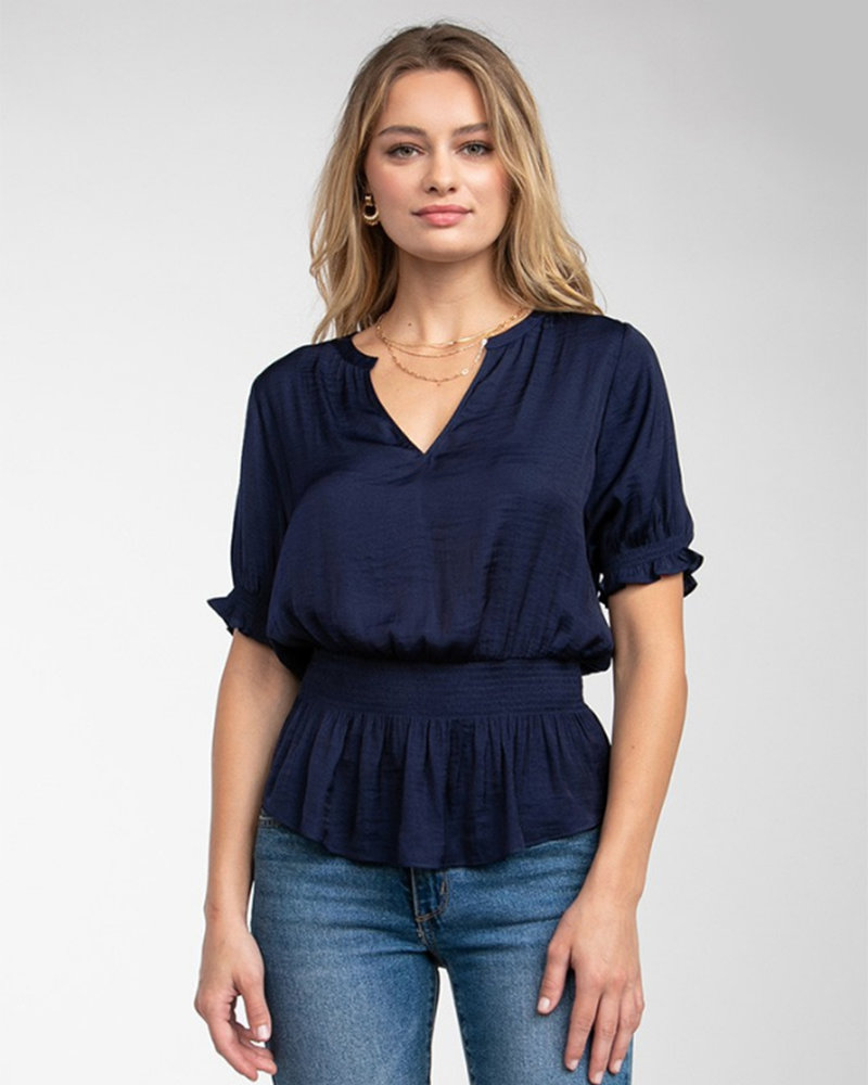 Smocked S/S Blouse