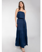 Tiered Strapless Maxi