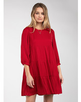 Tiered Dress w/ 3/4 Sleeve