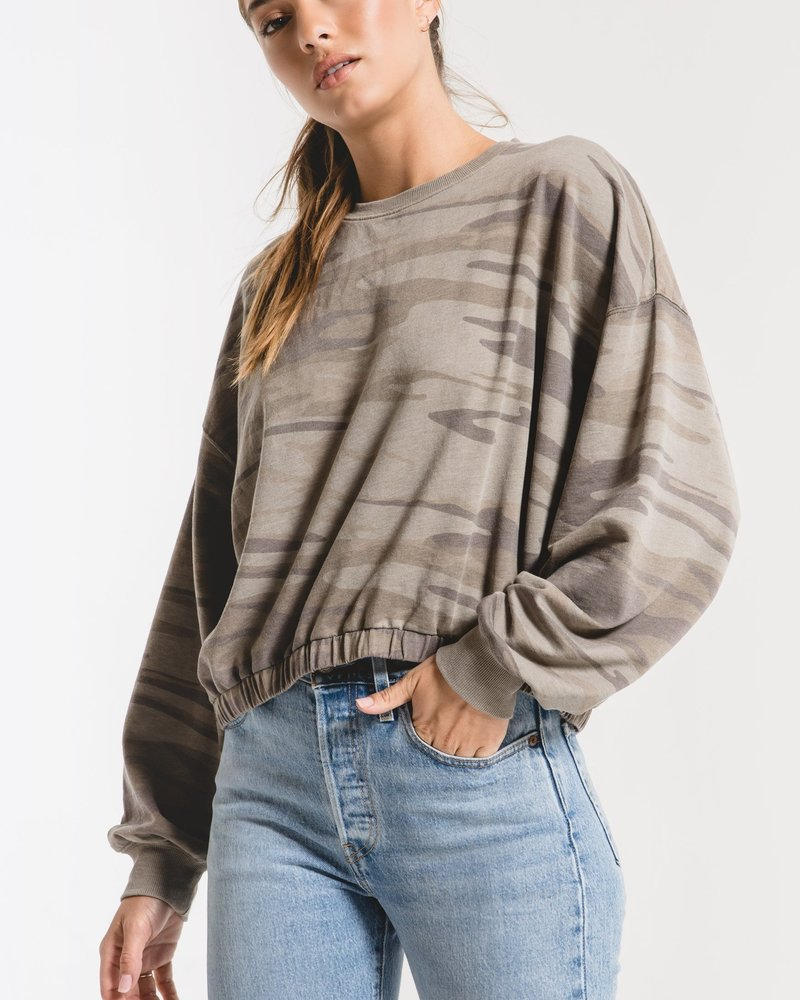 Z Supply - The Camo Relaxed Pullover