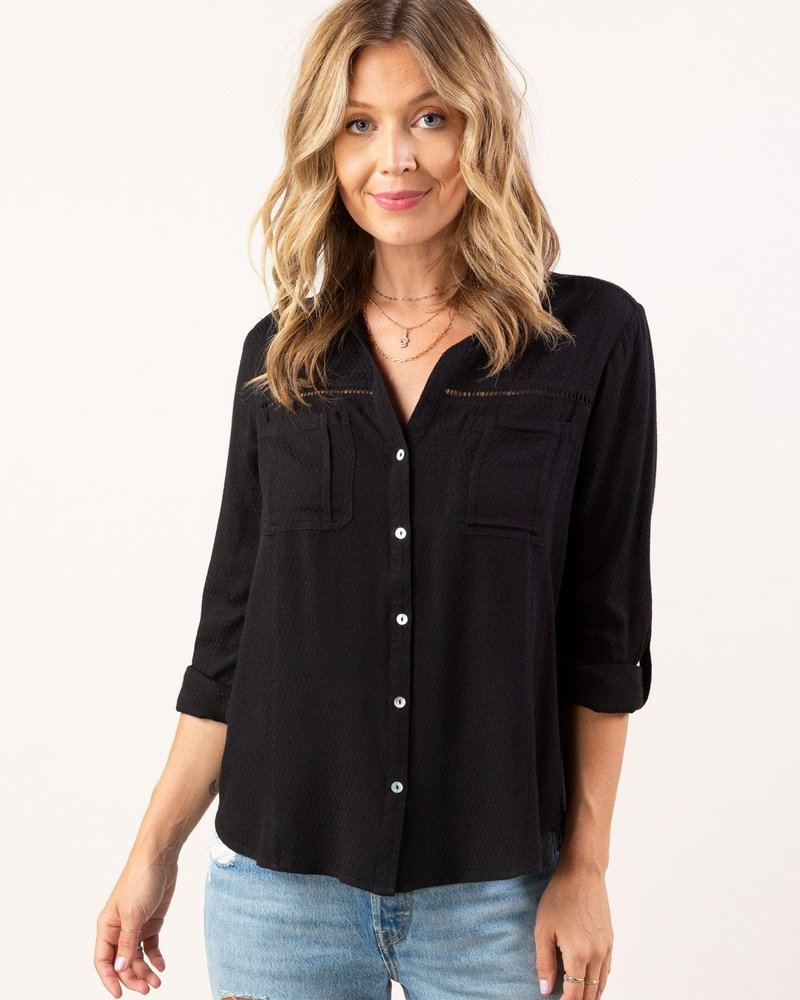 Overtime L/S Button Top