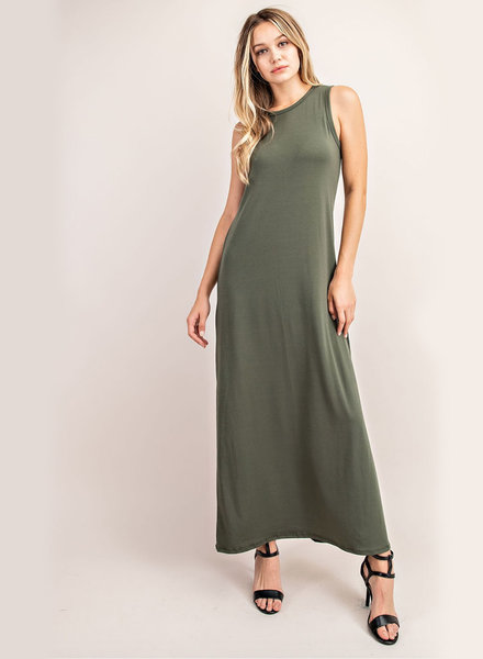 Vanessa Jersey S/L Dress w/ Side Slits