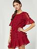 June Dotted S/S Ruffle Dress