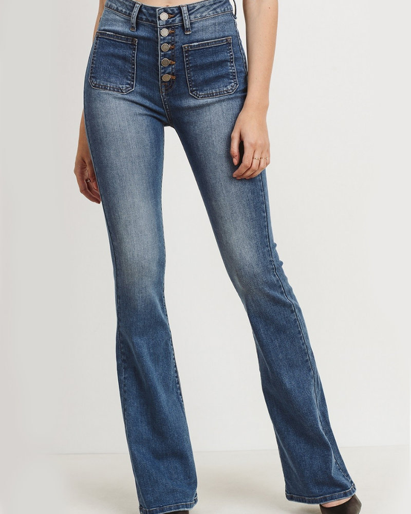 JBD - High Rise Flare with Front Pockets