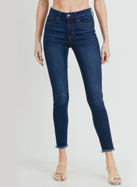JBD - High Rise Frayed Hem Skinny