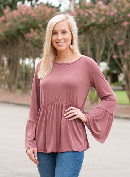 L/S Peplum Top