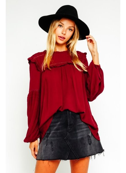 Hannah Ruffled Peasant Blouse