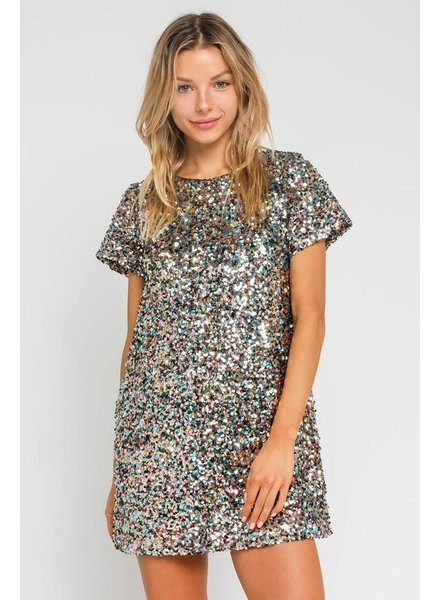 Lilly S/S Sequin Shift Dress