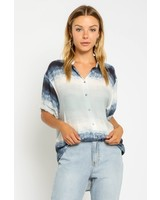 Lillian S/S Tie Dye Button Up Top