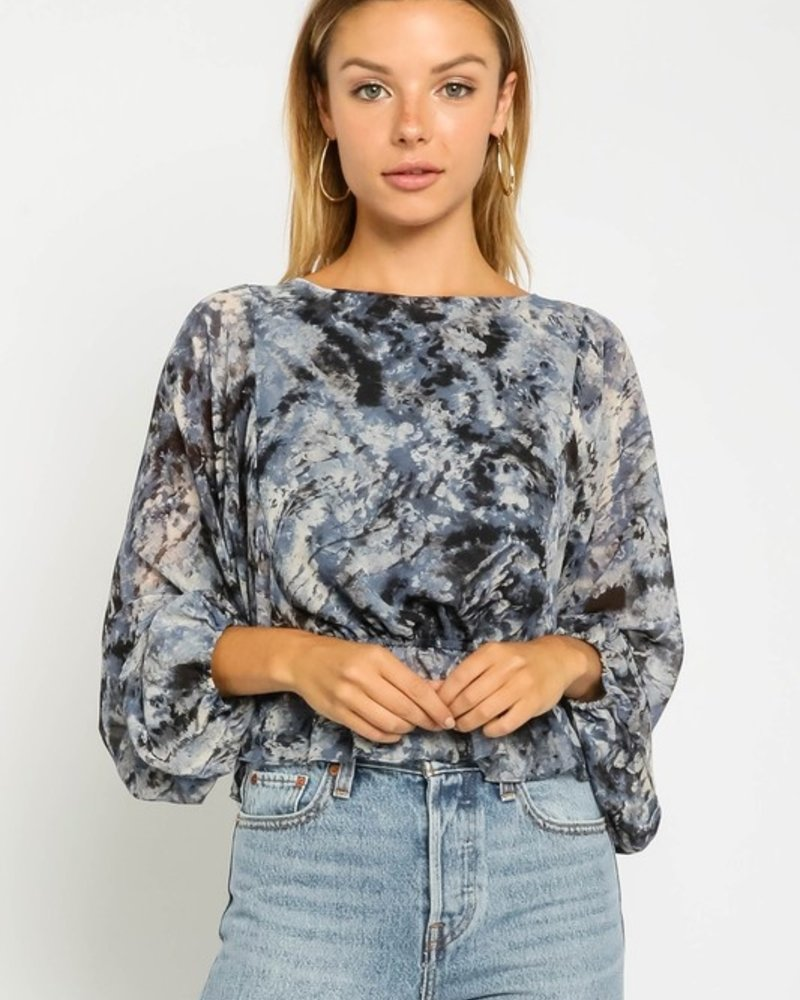 Lydia Tie Dye Bubble Blouse
