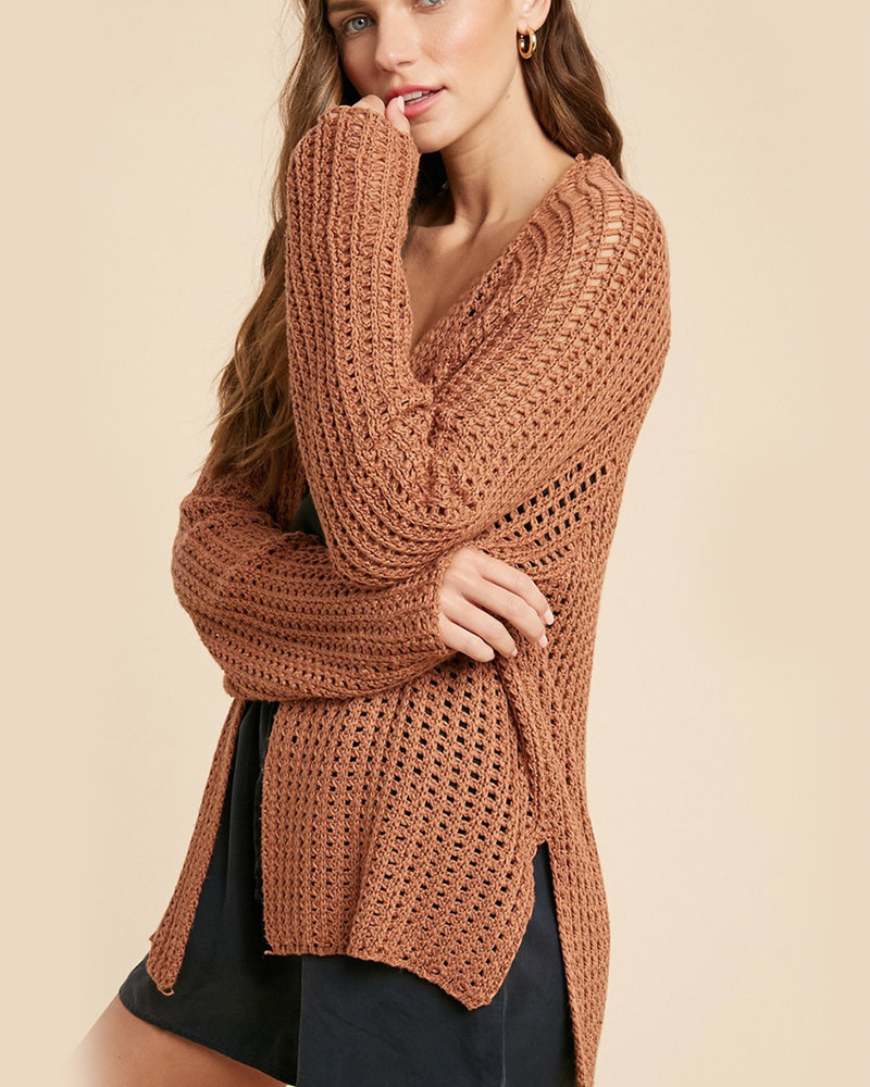 Mallory Open Knit Cardigan