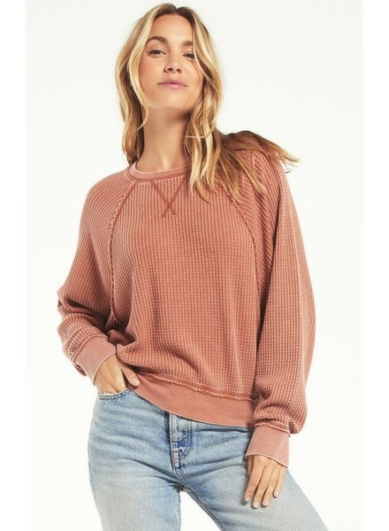 Z Supply - Claire Waffle L/S Top