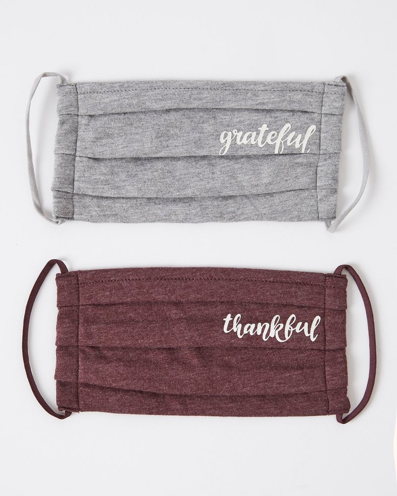 Z Supply - Grateful Reusable Face Mask (2 Pack)