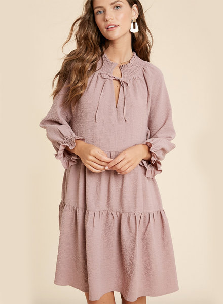 Anna Crinkled Babydoll Dress