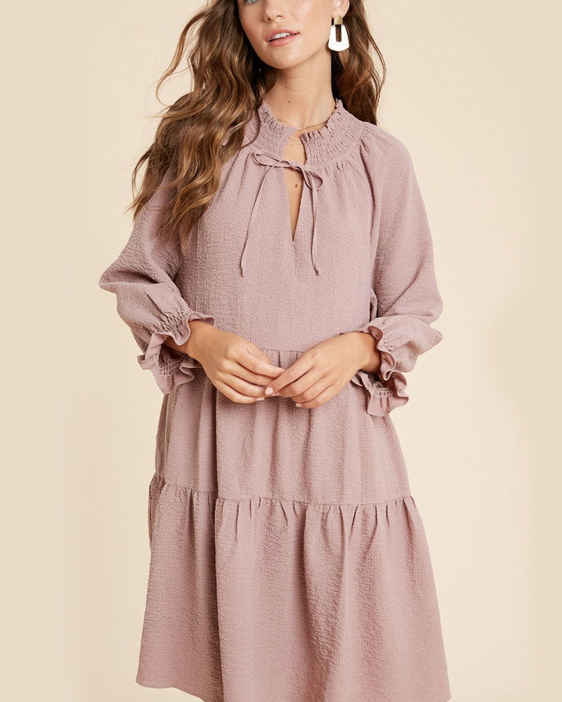 Anna Crinkled Babydoll Dress