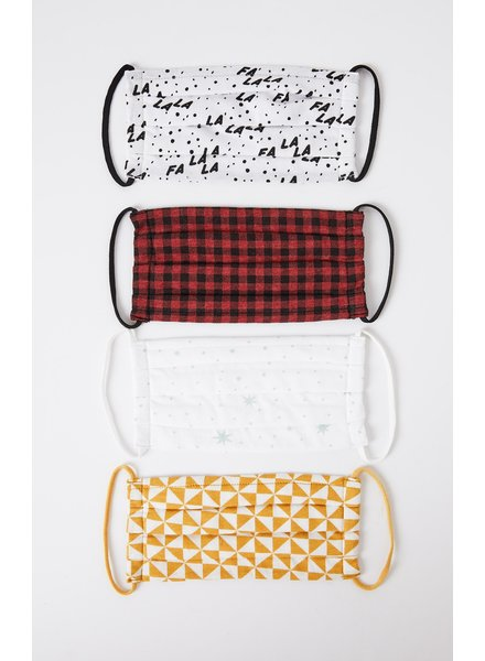Z Supply - Holiday Reusable Face Mask (4 pack)