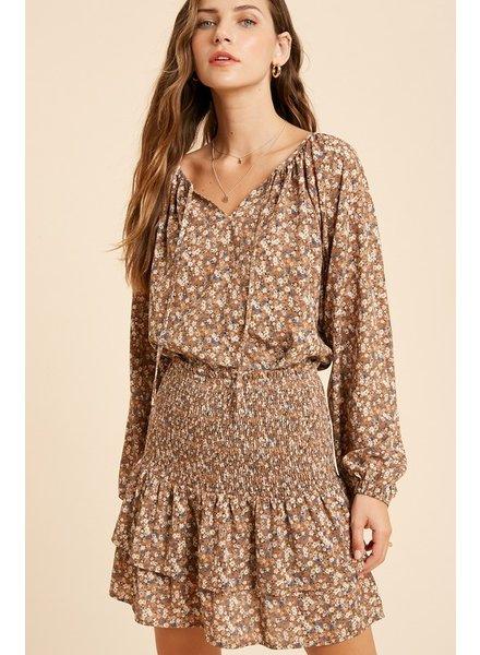Floral Print Top & Skirt SET