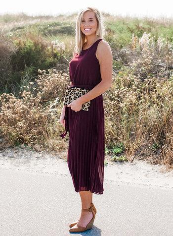 Emily Pleated Wide Leg Jumpsuit