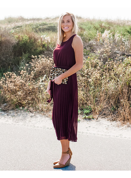 Emily Pleated Wide Leg Jumpsuit