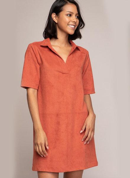 Emma S/S Suede Dress