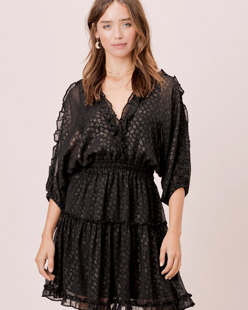 Ronia Foil Chiffon Dress