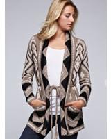 Monica Patterned Sweater w/ Tie