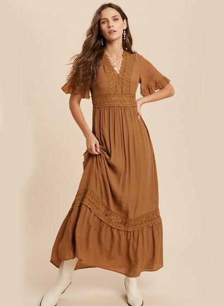 Lucy Crochet Trim Maxi Dress