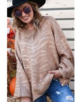 Carol Metallic Zebra Sweater