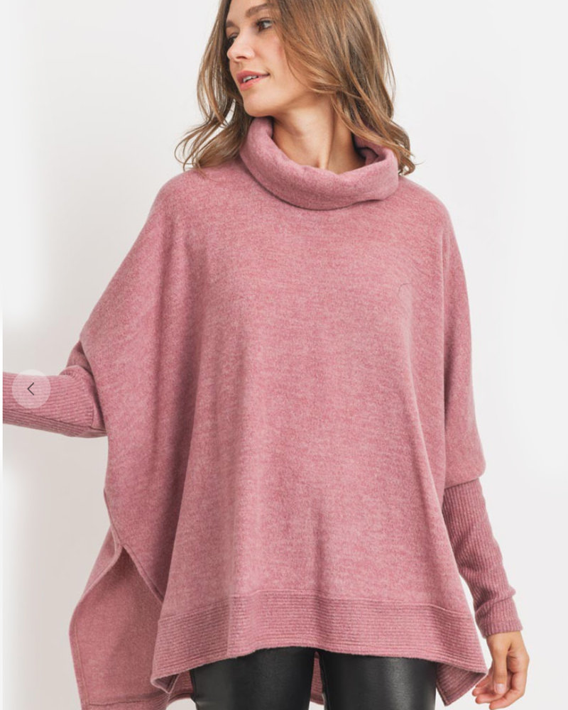 Tea Boxy Cowl Neck Tunic