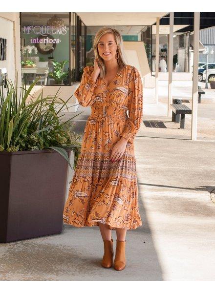 Alexa Paisley Smocked Waist Dress
