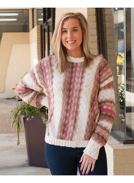 Ash Vertical Stripe Sweater
