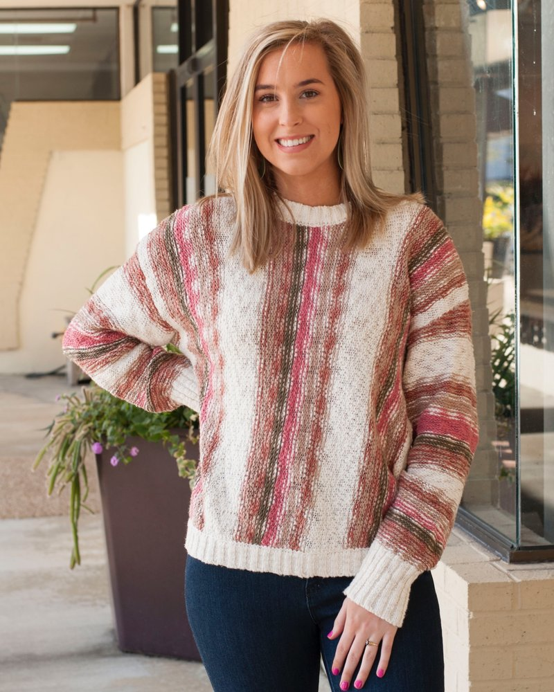 Ash Vertical Stripe Sweater