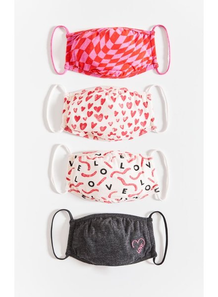 Z Supply - Love in the Air Reusable Face Mask (4 pack)