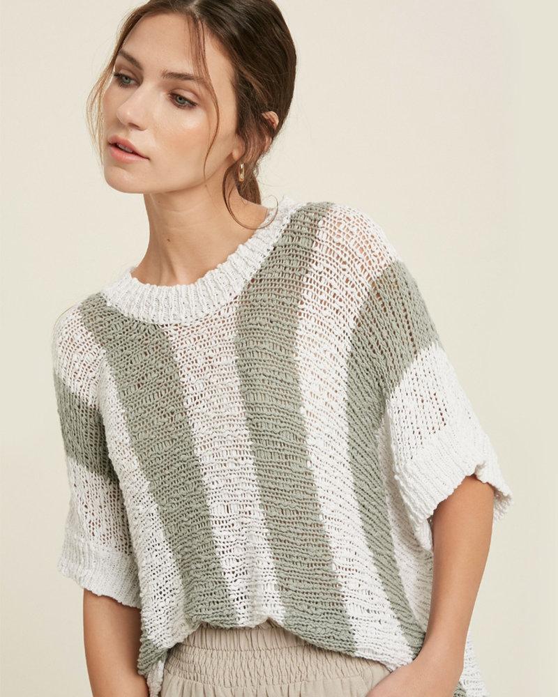 Adalynn Stripe Dolman Sweater