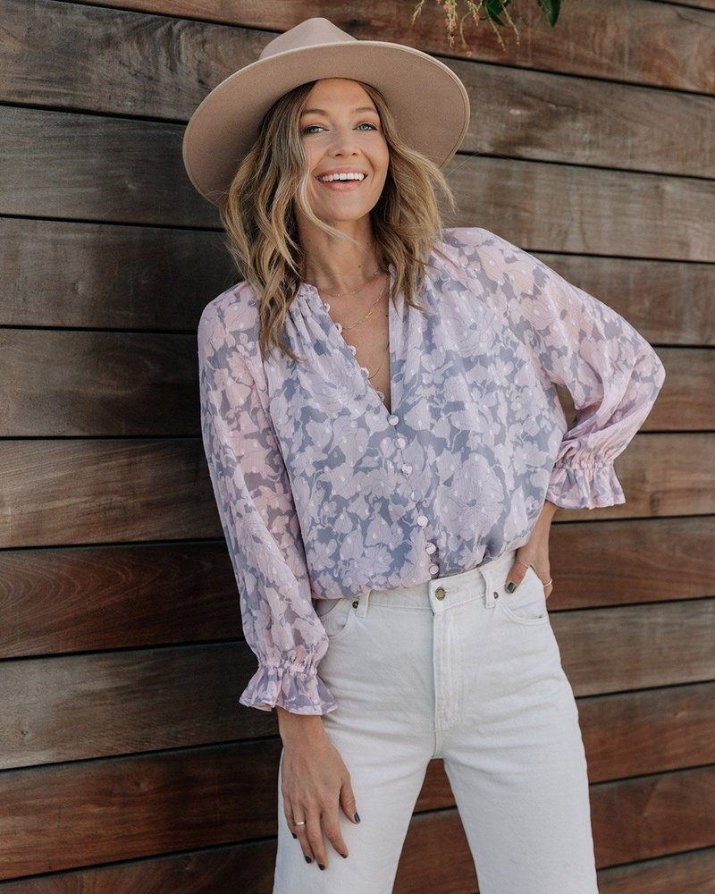 Spring Fever Floral Button Up Blouse