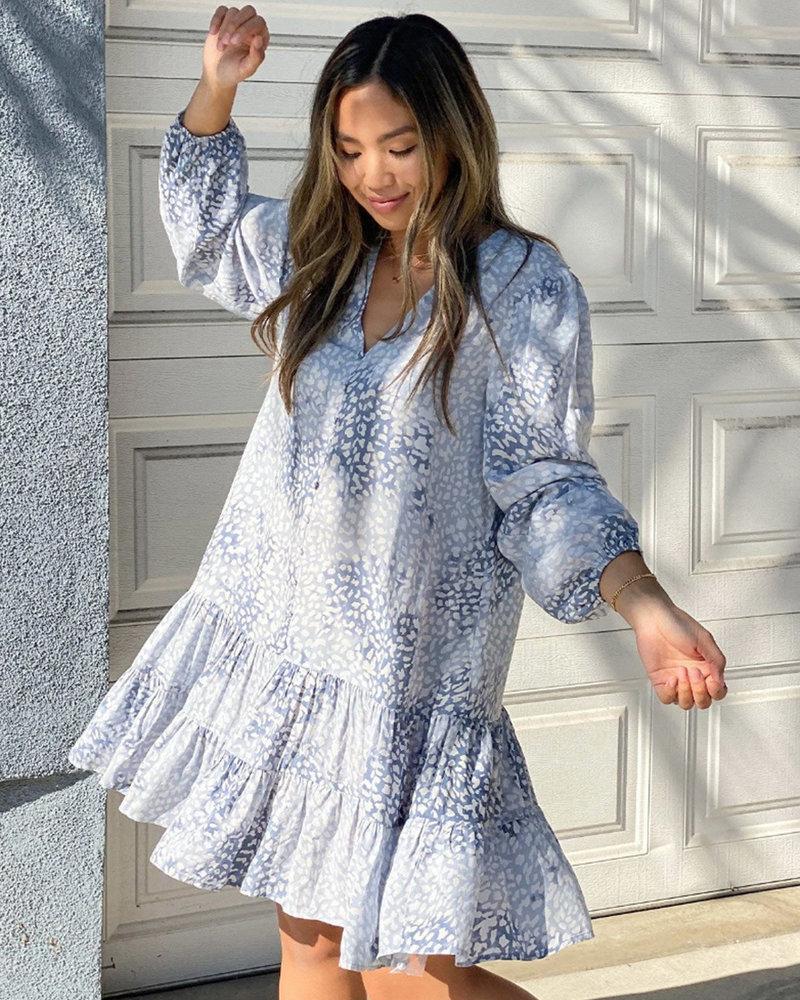 Sky High Button Front Babydoll Dress