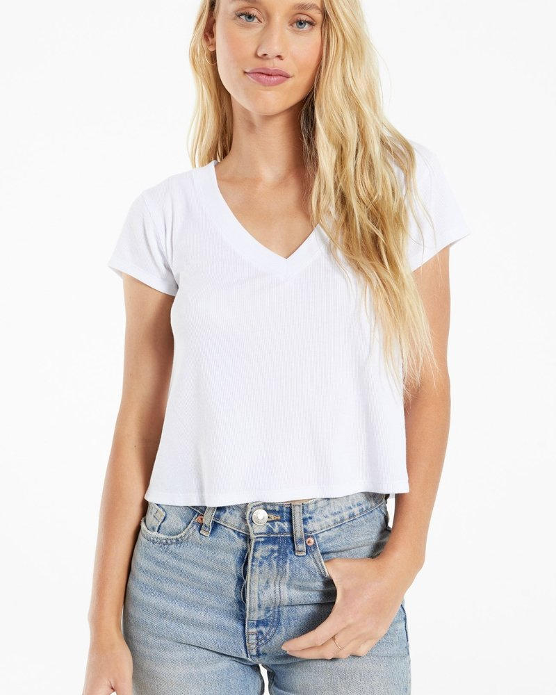 Z Supply - Ava Rib VNeck Tee