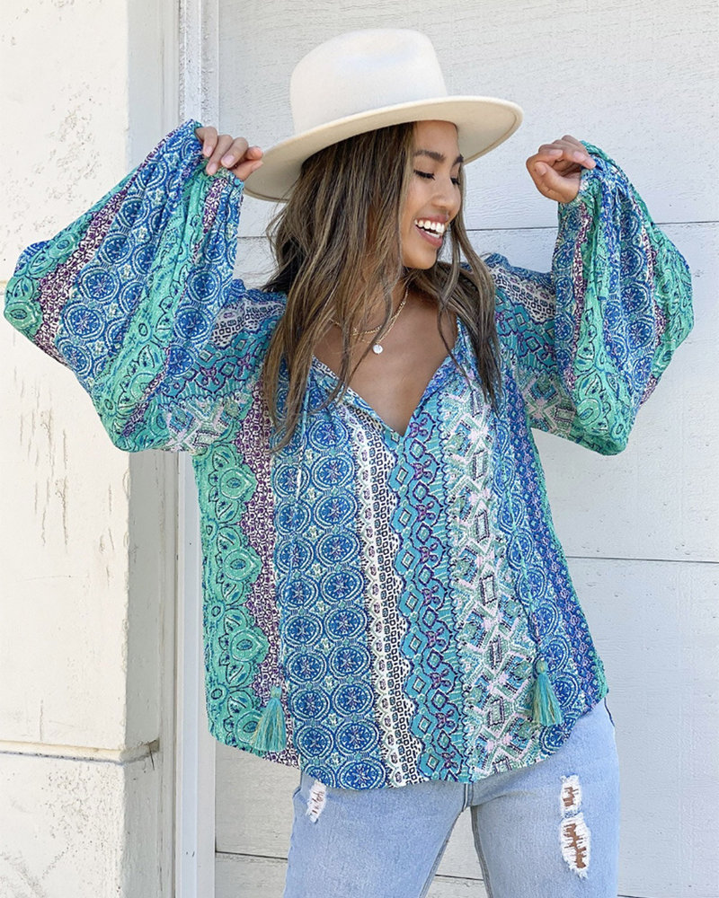 L/S Marrakesh Print Top