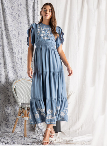 Ingrid Embroidered Maxi