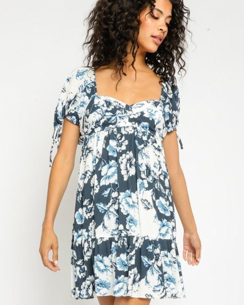 Laila Floral Sweetheart Dress