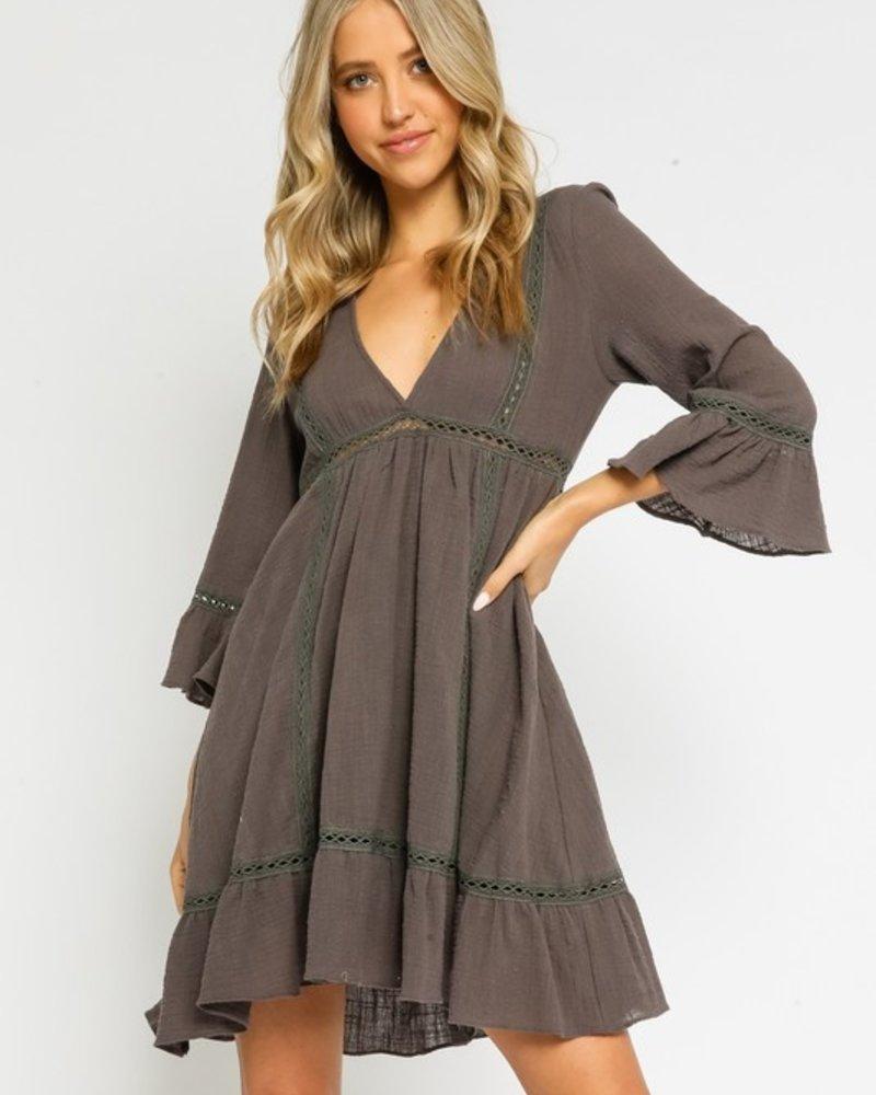 Jessica Gauze Bell Slv Dress