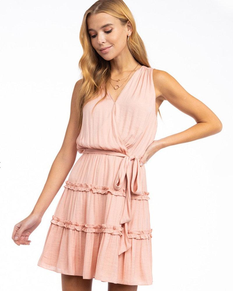 Mia S/L Wrap Dress w/ Belt