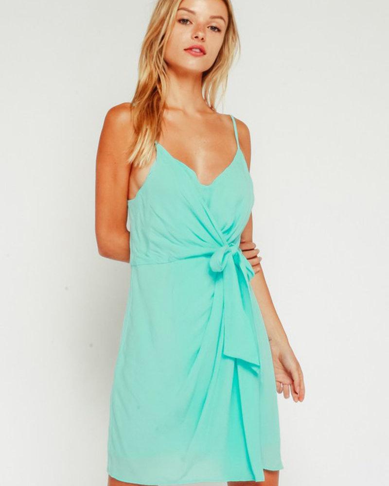 Smith Solid Tie Waist Dress