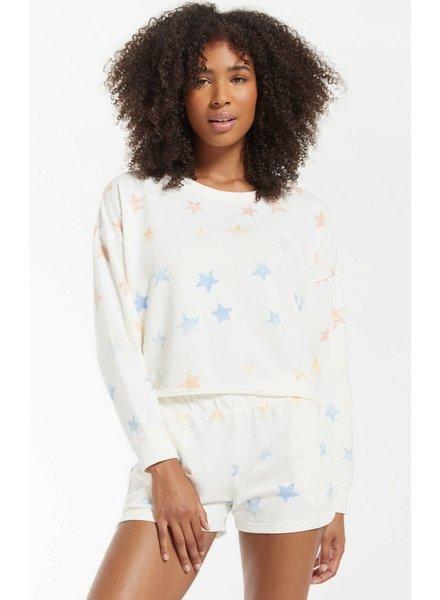 Z Supply - Lia Rainbow Star Sweatshirt