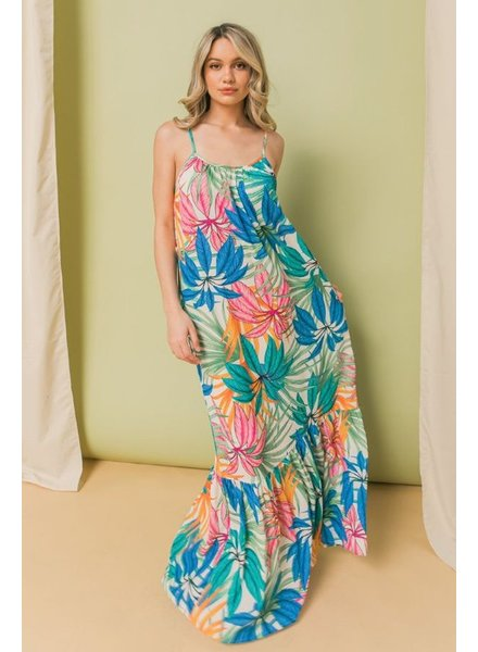 Printed Cami Maxi Dress